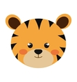 cute little tigger animal character vector image