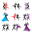 Dancing icons vector image vector image