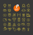 different gifts icons collection web and mobile vector image vector image