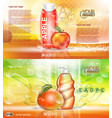 digital red and orange shower gel vector image vector image