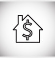 dollar home storage thin line on white background vector image