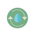 drop water recycle green energy block icon vector image vector image