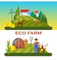 eco farm vector image vector image