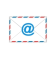 Envelope with e-mail sign flat icon vector image vector image