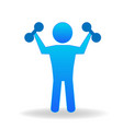 fit man working out icon vector image vector image