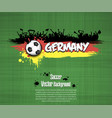Flag of germany and football fans