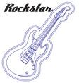 Guitar Rockstar vector image
