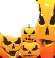 halloween pumpkins jack o lanterns vector image