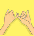 hand pinky promise concept vector image vector image