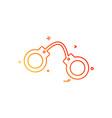 handcuff arrest police icon design vector image