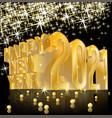 happy new 2021 year 3d golden wallpaper vector image vector image