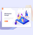 landing page template open workspace vector image