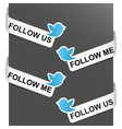 left and right side signs - follow me vector image