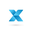 Letter X logo icon design template elements vector image vector image