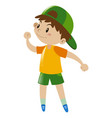 little boy with happy face vector image