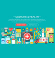 medicine and health design concept set vector image