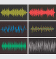 music backgrounds audio sound waves pulse vector image