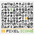 Pixel art web icons set 2 vector image vector image