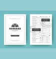 pizza restaurant menu layout design brochure or vector image