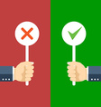Positive and negative feedback concept vector image
