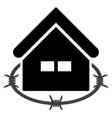 Prison Building Flat Icon vector image vector image