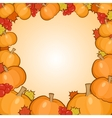 Pumpkins frame background autumn border vector image vector image