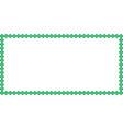 saint patricks day rectangle border made of vector image