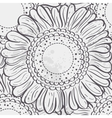 Seamless texture stylized sunflowersblack contour vector image vector image