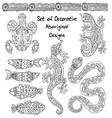 Set of aboriginal animals vector image