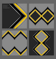 set of business backgrounds vector image vector image