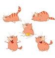 Set of Cartoon Cute Cats for you Des vector image