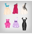 Set of gorgeous dresses vector image vector image