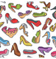 set of womens shoes fashion design hand vector image vector image