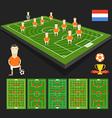 Soccer world cup team presentation Holland team vector image vector image