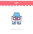 spy flat design ui icon vector image
