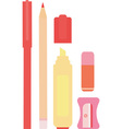Stationary Tool Set vector image
