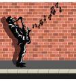 street busker vector image vector image