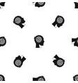 target in human head pattern seamless black vector image vector image