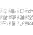 Technology line icon set vector image vector image