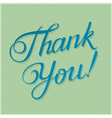 THANK YOU hand lettering vector image vector image