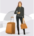 Traveling young woman vector image vector image