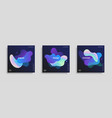 trendy design templates with fluid gradient shapes vector image vector image