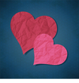Two hearts from paper vector image vector image
