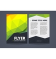 Two sided flyer brochure design template vector image vector image