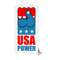 usa power patriot fist emblem sign of strong vector image