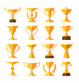 victory leaderships trophy cups vector image vector image
