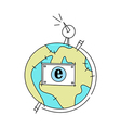World Communication Globe vector image vector image