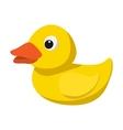 Yellow duck for bath cartoon icon vector image vector image