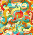 fabric spirals seamless pattern with grunge effect vector image