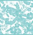 light blue drawing tropical summer hawaiian vector image